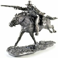Wild West Cowboy. Tin toy soldiers 54mm (scale 1/32) miniature metal sculpture
