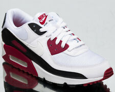 Nike Air Max 90 Men's White Maroon Black Athletic Casual Lifestyle Sneakers Shoe
