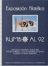 Documento para álbum de 15 anillas Exposición Rumbo al 92 año 1987 (DG-4)