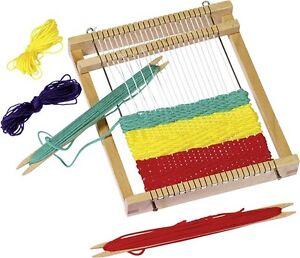 Webrahmen für Kinder Weben Handarbeiten Goki Wolle Holzspielzeug NEU