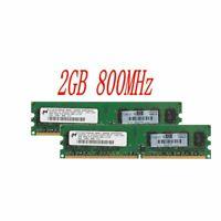 4Go 2x 2G PC2-6400 DDR2 800MHz 240Pin DIMM ordinateur mémoire RAM pour Micron FR