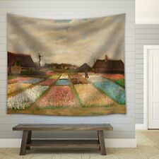 "Wall26® - Flower Beds in Holland"" by Vincent van Gogh - Fabric Tapestry - 51x60"