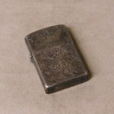 Sterling Silver Engraved Lighter Case from Japan
