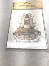 Siamese Cat Family Crest Plaque Sealed
