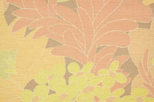 1970s Vintage Wallpaper Large Pink Yellow Flowers