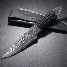 Japanese Blacksmith Yu Kurosaki Hammered Damascus VG10 Hunting Knife #1 Japan