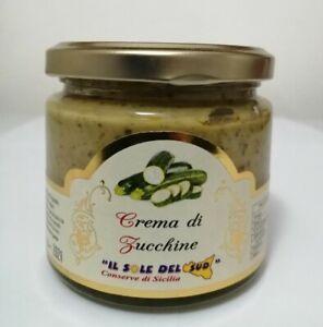 Crema di Zucchine Siciliane vaso da 190gr Prodotto in Sicilia km0