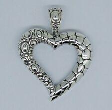 Diseñador De Bali Plata Esterlina 925 Corazón Colgante Envío Gratis - 5.2 GMS #J15