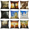 Cushion God Cross Decor 18'' pillow Sofa case Home Cover Believer Jesus For
