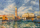 Impressionist Oil Painting Classic Venice Scene Signed Canal Grande Italy