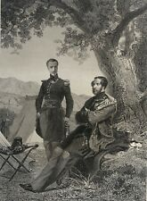 Les Ducs d'Orléans et d'Aumaleau camp d'Alfroun Algérie XIXe vers 1850