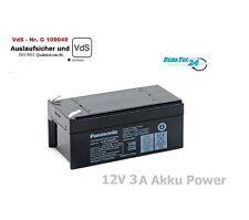 Batterie Panasonic AGM Puissance 12Volt 3Ah Elévateur de bain Solaire Batterie