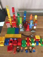 LEGO Duplo 2kg Bundle Joblot Cars People Bases Train Fire Station 159 Pieces