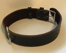 "LEATHER DOG COLLAR - PLAIN LEATHER  DOG COLLAR, REAL LEATHER- 2"" WIDE"