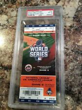 PSA 8 2015 World Series Ticket NY Mets Kansas City Royals 2nd Title game 5