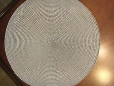 Set of 35 Round Gray Woven Placemats