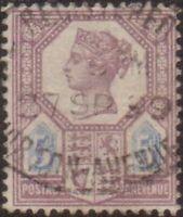 Great Britain 1888 SG207a 5d dull purple and blue Queen Victoria FU
