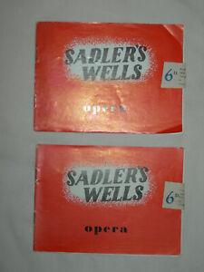 2 x Sadler's Wells Opera Hugh the Drover Vaughan Williams Concert Programme 1950