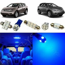 9x Blue LED Interior lights package kit for 2009 - 2014 Nissan Murano NM3B
