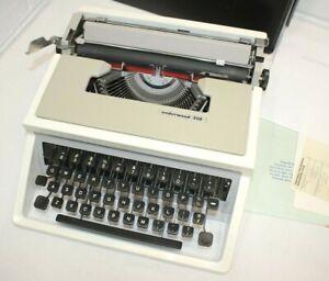 Vintage Underwood 310 Portable SLIM Manual Typewriter w/ Case - Tested & Works!