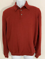 Brooks Brothers XL 346 Extra Fine Merino Wool Sweater Long Sleeve Polo Pullover