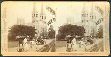 1900 Philippines SAN SEBASTIAN CHURCH MANILA Stereoview Card