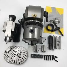"""Precision BS-0 Dividing Head 3Jaw 5"""" Chuck + Tailstock + Dividing Plate CNC Mill"""