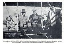 Wilbur Wright erteilt König Alfonso XIII. Fluglektionen *  Bilddokument 1908