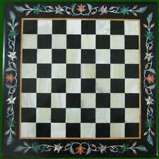 Marble Coffee Center black chess Table Top  malachite 2'x2' Inlay corner side