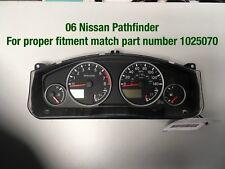 06 Nissan Pathfinder Speedometer Cluster , # 1025070.