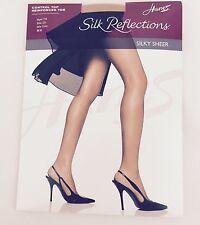 Hanes Silk Reflections Control Top Reinforced Toe C-D Pantyhose Little Color 718