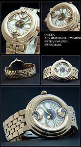Luxury Cavadini Rose Gold Plated Women's Watch Design Piece Extra Vaganza Swiss