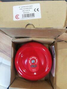 Fire Alarm Bell - 6 Inch 24V DC - Red AH-0218 VBL-6AP-R