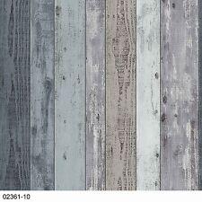 P+S Vliestapete Einfach Schöner 02361-10 Vintage Holz 3D Blau Grau Weiß Türkis