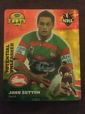 NRL Smith's Gold Footy Tazo 2007 28/64 John Sutton South Sydney Rabbitohs Card