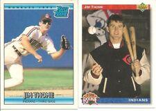 1992 Upper Deck #5 & 1992 Donruss #406 Jim Thome Rookie Cards - HOF - Mint