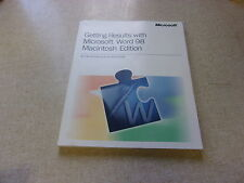 Getting Results with Microsoft Word 98 Macintosh Edition *FREE SHIPPING*