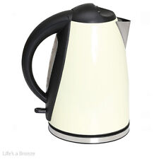 Kettle. 1.8L Low Wattage Cream Stainless Steel Kettle