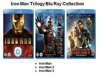 IRON MAN TRILOGY - PART 1 2 3 COMPLETE TRIPLE PACK MARVEL NEW SEALED UK BLU RAY