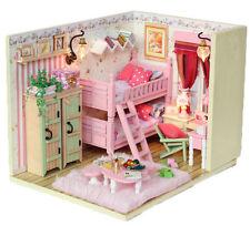 Dollhouse miniature kit - My Little Buddies -PINK/BLUE (M006)  w/Light & Cover