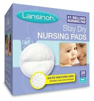 Lansinoh Stay Dry Disposable Nursing Pads, Maximum Comfort, Medium, 36 Count