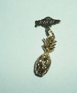 Creaster brand; Hawaiian Pineapple  Charm Pendant gold tone