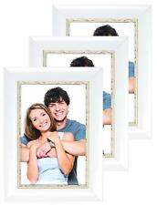 Photo Frames, 6 x 4, Vintage White Picture Frame, Freestanding and Mountable 6x4
