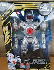 RoboAttack Remote Controlled Toy Robot with Missiles by Think Gizmos BNIB