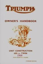 Triumph Owner's Handbook Bonneville Tiger 650 T120 TR6 1968 Manual Booklet new