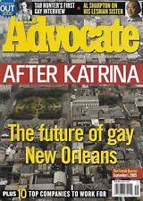 The Advocate Magazine New Orleans Hurricane Katrina Tab Hunter Al Sharpton 2005