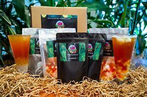 Bubble Tea Kit, 20 serves fruit tea, 4 syrups, 4 toppings, FREE POSTAGE