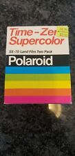 POLAROID 2 pack 20 pics TIME ZERO SUPERCOLOR SX 70 LAND COLOR FILM EX 08/81