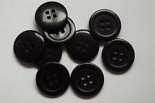 8pc 26mm Black Suit Coat jacket Cardigan Kids Knitwear Button 0714