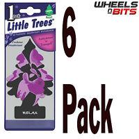 6x Relax Scent Magic Little Tree Trees Car Home Air Freshener Freshner